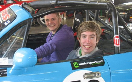 Lap of Rockingham in the MX5 - Daniel Rogers and Rhys Jenkins