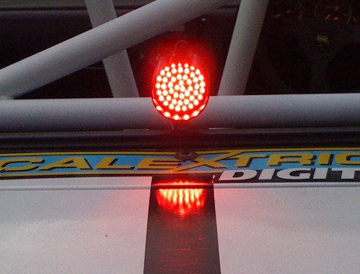 LED Rain Light and White Roll Cage