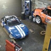 Working on the Mazda