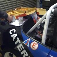Working on the Mazda - Food Break