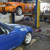Working on the Mazda - Corner Weights