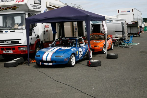 Dan and Rhys in the Knockhill Paddock