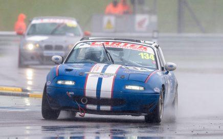 Dan Rogers Mazda MX5 Donington Park Roadsports Wet